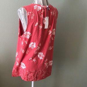 Lucky Brand Tops - Lucky Brand Floral Sleeveless Tassel Top
